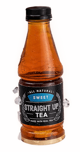 Bottle of Sweet Straight Up Tea made with real tea